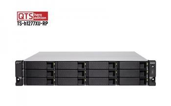 QNAP 12-Bay QTS hero NAS, AMD Ryzen™ 5 3700X 8-core/16-thread 3.4 GHz processor, 32GB DDR4 RAM (max 128GB RAM), 12x 2.5