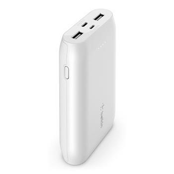 Belkin USB-C PowerBanka, 10000mAh, víceportová, bílá