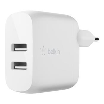 Belkin Duální USB-A domácí nabíječka 2x12W, bílá
