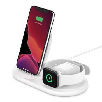 Belkin 3v1 Bezdrátové nabíjení pro iPhone/Apple Watch/AirPods, bílá
