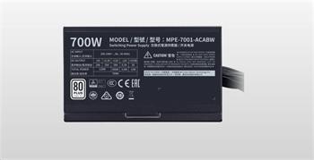 Cooler Master zdroj MWE 700 WHITE 230V - V2, 120mm, 80+