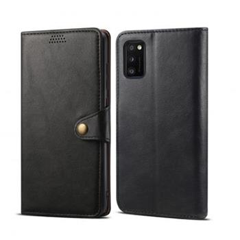 Lenuo Leather flipové pouzdro pro Samsung Galaxy A41, černá