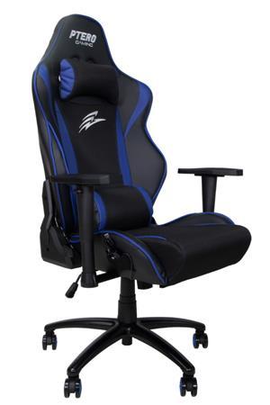 EVOLVEO Ptero ZX Cooled Blue, herní křeslo s masážními funkcemi a ventilátory, černo-modré