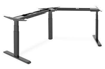 Digitus Electricky výškově nastavitelný rám stolu, 3-nohy 120 stupňů, černá