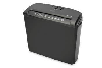 Digitus Skartovač papíru S5 bez otvoru pro CD / DVD / kreditní kartu 7mm, 5 listů, 7L, proužky řezané