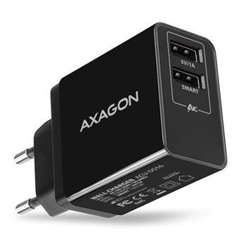AXAGON ACU-DS16, SMART nabíječka do sítě, 2x USB výstup 5V/2.2A + 5V/1A, 16W