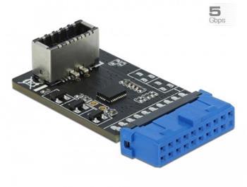 Delock Adaptér USB 3.2 Gen 1 z kolíkového zásuvkového konektoru na interní zásuvkový key A