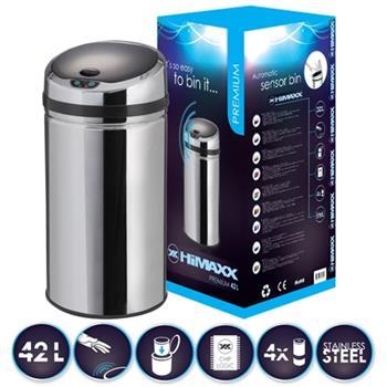 HiMAXX senzorový odpadkový koš Premium 42L+ baterie ZDARMA