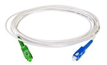 OPTIX SC/APC-SC FLEXI optický patch cord G.657B3 2mm 10m bílý simplex
