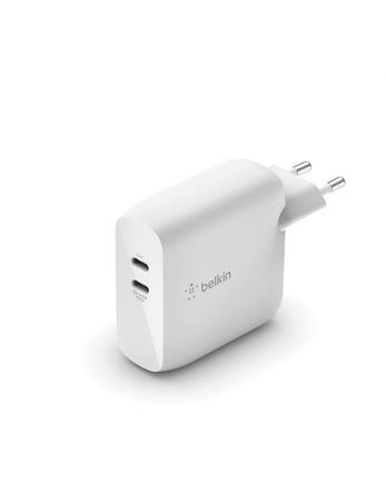 Belkin Duální nástěnná nabíječka USB-C GaN 63 W (45 W + 18 W)