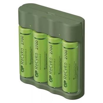 GP Everyday B421 nabíječka, USB, 6 hod. + 4x AA Recyko+ 2700