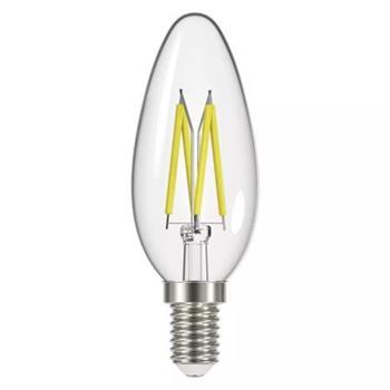 Emos LED žárovka CANDLE, 6W/60W E14, WW teplá bílá, 806 lm, Filament matná A++