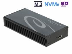 Delock Externí pouzdro pro M.2 NVMe PCIe SSD se SuperSpeed USB 20 Gbps (USB 3.2 Gen 2x2) USB Type-C™ samice