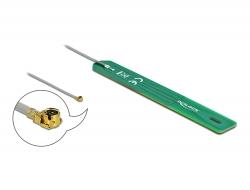 Delock Anténa LPWAN 880 - 960 MHz MHF® I samec 2 dBi 1.13, 7,5 cm PCB interní samolepící