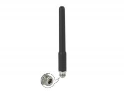 Delock Anténa GSM, UMTS N samice, 2 dBi 17,8 cm, všesměrová, pevná, z ohebných materiálů, venkovní, černá