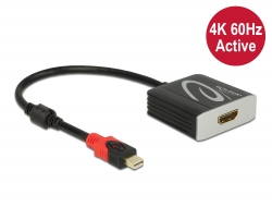 Delock Adaptér z Active mini DisplayPort 1.4 na HDMI, 4K, 60 Hz (HDR)