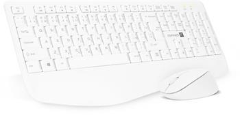 CONNECT IT Combo bezdrátová bílá klávesnice + myš, (+1x AAA +1x AA baterie zdarma), CZ + SK layout