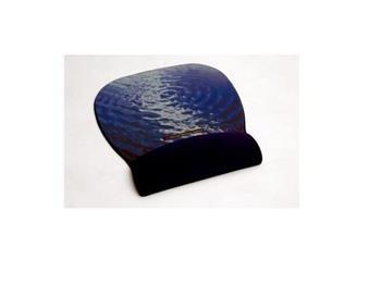 3M Podložka pod myš s opěrkou zápěstí a Precise™ technologií pro snadnější pohyb myší, modrá voda