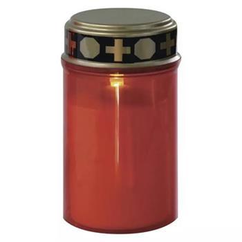 Emos LED hřbitovní svíčka, 2x C, červená, časovač