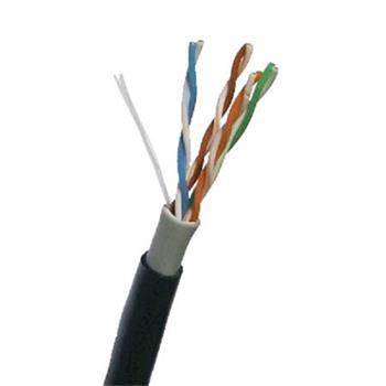 DATACOM UTP drát CAT5E PVC+PE,Fca 305m cívka černý 2-OUTDOOR