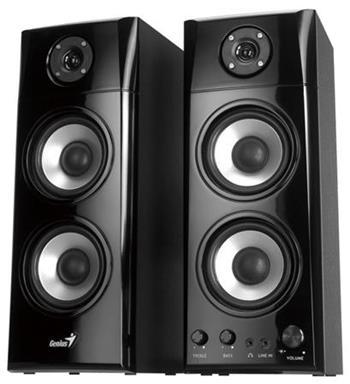 Genius SP-HF1800A v2 , Reproduktory, 2.0, 60W, dřevěné, černé