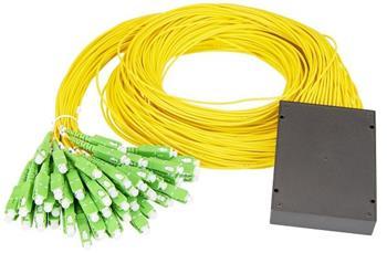 Masterlan PLC optický splitter - 1x64, 1260-1650nm, ABS box, SC/APC, 1,5m