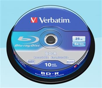 VERBATIM BD-R SL 25GB, 6x, spindle 10 ks