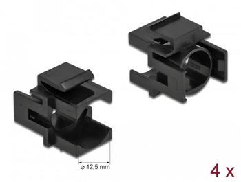 Delock Keystone kryt černá s 12,5 mm otvorem 4 kusy
