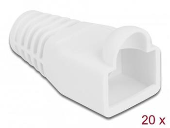 Delock Ochrana proti namáhání pro zástrčkový konektor RJ45, bílá, 20 ks