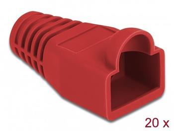 Delock Ochrana proti namáhání pro zástrčkový konektor RJ45, červená, 20 ks