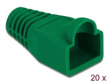 Delock Ochrana proti namáhání pro zástrčkový konektor RJ45, zelený, 20 ks