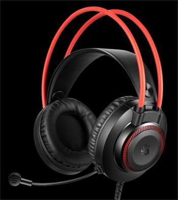 A4tech Bloody G200 , herní sluchátka s mikrofonem, 7 barev podsvícení, single jack + USB