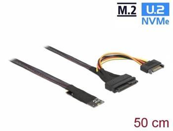 Delock Adaptér M.2 klíč M na U.2 SFF-8639 NVMe s kabelem délky 50 cm