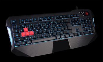 A4tech Bloody B130 podsvícená herní klávesnice, voděodolná, USB, CZ