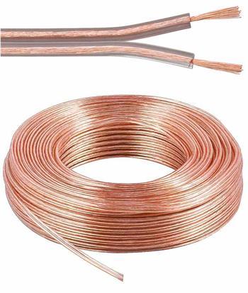 PremiumCord Kabely na propojení reprosoustav 99,9% měď 2x0,75mm2 25m