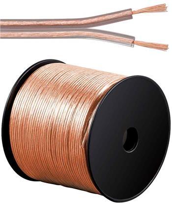 PremiumCord Kabely na propojení reprosoustav 99,9% měď 2x0,75mm2 100m