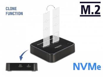 Delock Dokovací stanice M.2 pro 2 x SSD M.2 NVMe PCIe s funkcí klonování