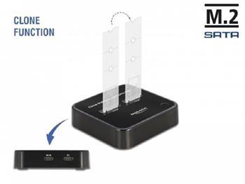 Delock Dokovací stanice M.2 pro 2 x SSD M.2 SATA s funkcí klonování
