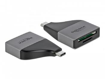 Delock Čtečka karet USB Type-C™ pro paměťové karty SD / MMC + Micro SD – kompaktní konstrukce