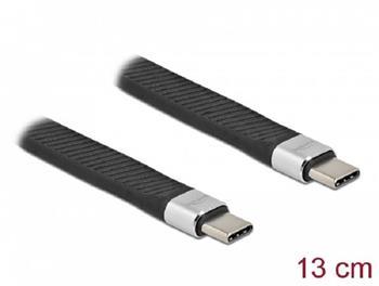 Delock FPC plochý stuhový kabel, USB Type-C™ na Lightning™ pro iPhone™, iPad™ a iPod™, 13 cm