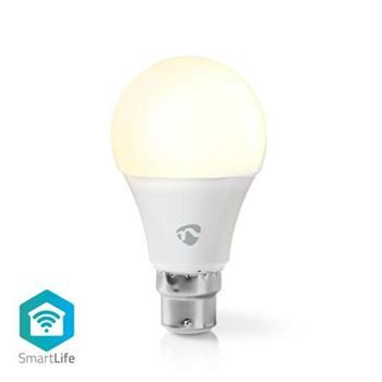 Nedis WIFILW12WTB22 - Wi-Fi Chytrá LED Žárovka   B22   A60   9 W   800 lm   Teplá Bílá