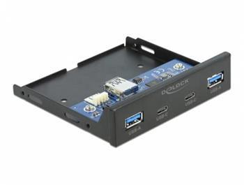 """Delock 3.5"""" USB 3.2 Gen 1 přední panel 2 x USB Type-C™ + 2 x USB Typ-A"""