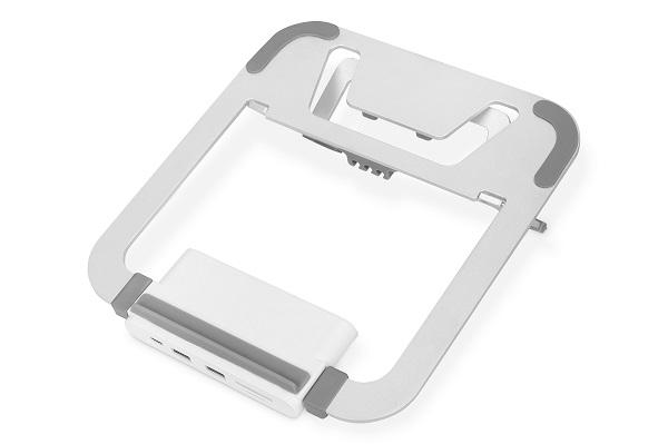 DIGITUS variabilní stojan na notebook s integrovanou dokovací stanicí USB-C ™, 8 portů