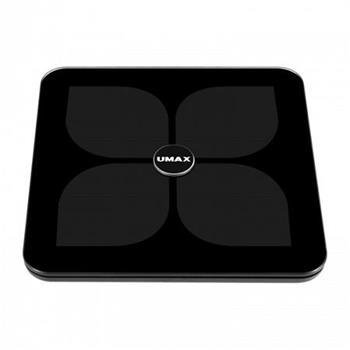 UMAX Smart Scale US20HRC Black Chytrá váha s duálním Bluetooth i Wifi připojením a měřením tepové frekvence