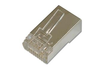 Digitus CAT 6 Modular Plug, 8P8C, shielded for Round Cable, two-parts plug, package incl. insert load bar