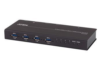 Aten průmyslový rozbočovač 4 x 4 USB 3.2 Gen 1