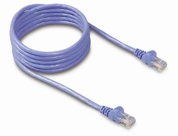 Belkin kabel PATCH UTP CAT5e 1m modrý, bulk Snagless
