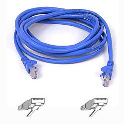 Belkin kabel PATCH UTP CAT5e 3m modrý, bulk Snagless