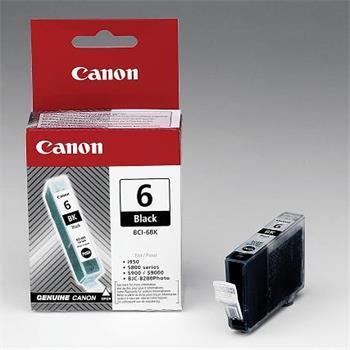 Canon BCI-6Bk Black Ink Cartridge 13ml (4705A002)