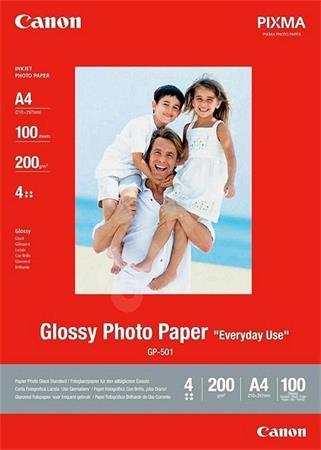 Canon fotopapír GP-501 - A4 -200g/m2 - 100 listů - lesklý